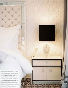 love the headboard and the nightstands