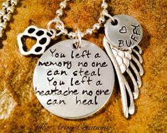 Pet loss necklace for those who lost a beloved pet and want something special to remember them by and to hold them close to their heart. Hand