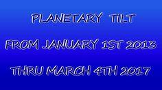 Earth's Planetary Tilt 1/01/2013 - 03/04/2017