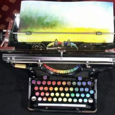 Beautiful Paintings created from a typewriter.