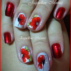 Cute Nail Art, Cute Nails, Pretty Nails, Daisy Nails, Flower Nails, Floral Nail Art, Fabulous Nails, Black Nails, Nail Arts