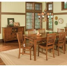 Home Styles Arts and Crafts Cottage Oak 5-piece Dining Furniture Set - 14192781 - Overstock.com Shopping - Big Discounts on Home Styles Dining Sets