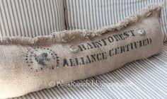 Bliss-Ranch.com Coffee Sack Pillows