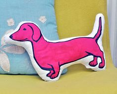 Dachshund Decorative Cushion from Everything Rochelle on Etsy