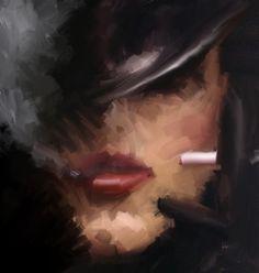 Smoking. A piece of digital art