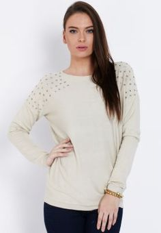 I NEEEEEEEEEEEEEEED THIS! Super cute flat studded sweater