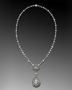Edwardian Diamond Filigree Pendant Necklace, circa 1905 (Fred Leighton)