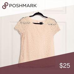 J. Crew lace blouse Pale pink/blush, edge lace detail is beautiful J. Crew Tops Blouses