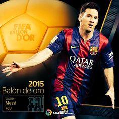 Leonel Messi Mejor jugador del mundo de futbol 2015