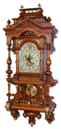 Gustav Becker Open-Well Clock (easily mistaken as Lenzkirch) ~ Antique Clocks Guy Unusual Clocks, Cool Clocks, Clock Art, Clock Decor, Antique Clock Repair, Antique Wall Clocks, Vintage Clocks, Classic Clocks, Clock Shop