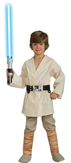 Star Wars Luke Skywalker Deluxe Child Costume Your little boy will look just like Luke Skywalker in this fantastic costume. Includes tunic, pants with attached boot tops, and belt. Does not include lightsaber. This is an officially licensed Star Wars ™ costume.