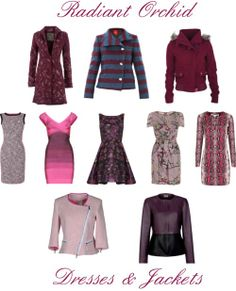 Radiant Orchid: Dresses & Jackets