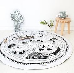 Black and White Play Mat - Pikka Baby
