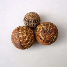 Ceramic Ball Decorative Ball Rust And Yellow by BlueMagpieDesign, $20.95