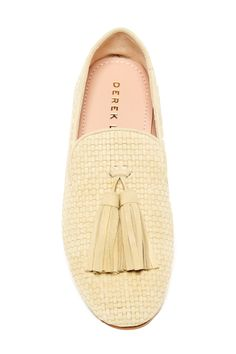 DEREK LAM - Palazzo Suede Woven Tassel Smoking Slipper is now 61% off. Free Shipping on orders over $100.
