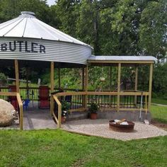 Building a gazebo from a grain bin | Living the Country Life