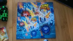 Miniaturized King of Tokyo board game!