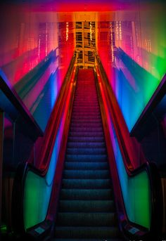 Stairway To Heaven Part 2 By Faifley Photography (Steven McDougall). Neon Colors, Rainbow Colors, Light Colors, Glitch Art, Stairway To Heaven, New Homes For Sale, Neon Lighting, Light Art, Color Photography