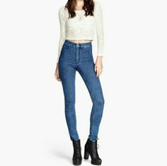 Super stretch skinny jeans Cute skinny jeans to wear with boots or chucks H&M Jeans