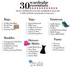30 wardrobe essentials