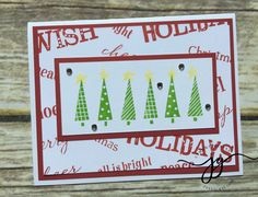 Christmas Card using the December Word Puzzle Stamp.  #ctmhwithjanna #ctmh #closetomyheart #ctmhstampaganza #christmasinjuly #cardmaking www.jannagray.com