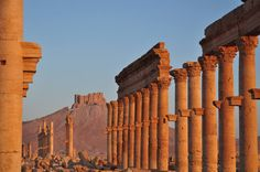 Site of Palmyra. Unesco World Heritage. An oasis in the Syrian desert, north-east of Damascus, Palmyra contains the monumental ruins of a great city that was one of the most important cultural centres of the ancient world.