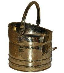 Solid Brass Coal Bucket with Handle