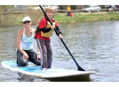 Paddleboarding class during Yampa River Festival