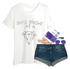 """""""Shine ✨BRIGHT✨ like a 💎"""" by beautylove200 ❤ liked on Polyvore featuring WithChic, BLANKNYC, Vera Bradley, Jack Rogers, Matthew Williamson, Belk & Co. and Clinique"""