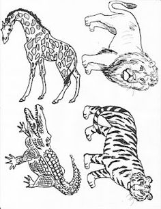 Noah's Arc animals. Print for sharing time