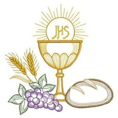 First Communion Banner, First Communion Decorations, Première Communion, First Holy Communion, Custom Embroidery, Machine Embroidery Designs, Quilting Board, Cross Art, Altar Cloth