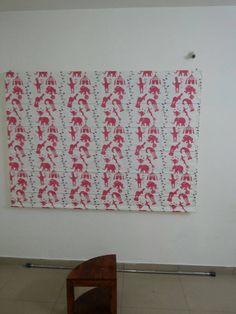 White and Red Roman Blind