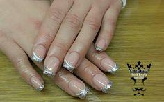 #nails #nailart #silverfriench #beautymakesyouhappy