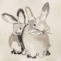 "Saatchi Art Artist SANTHOSH C H; Limited Edition Print, ""rabbit 16"" #art"