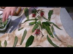 How to eco-print a tee shirt - full details - YouTube