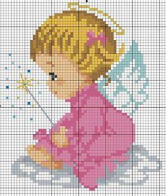 Baby Girl Angel X-stitch pattern