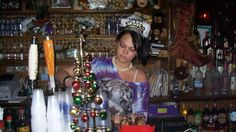 MY DAUGHTER ASHLEY  BARTENDING NEW YEARS EVE AT  MOB WIVES BIG ANG'S THE DRUNKEN MONKEY BAR-   STATEN ISLAND NEW YORK