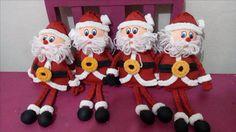 Santa Claus de papel Crepé. Ariadna Cruz.