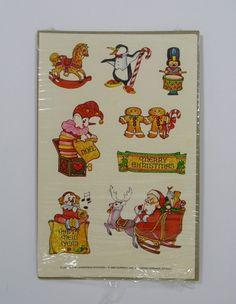Vintage 80/'s Great Seven 7 PEARLY Baby Bear Nursery Items Sticker Mod