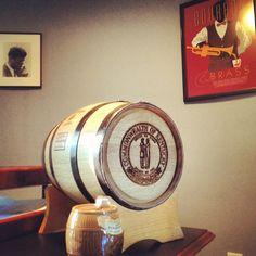 Always good to keep bourbon barrels on your desk.