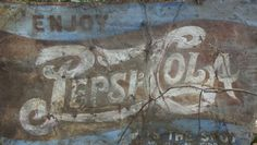 Old Pepsi Cola sign fresh off a barn roof