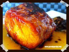 Lomo de cerdo caramelizado a la naranja