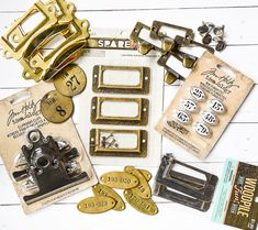 The ultimate guide for unique and affordable metal label holders, pulls and locker tags. Locker Tags, Diy Locker, Vintage Lockers, Vintage Drawers, Space Crafts, Craft Space, Drawer Labels, Craft Projects, Project Ideas