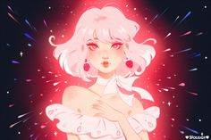 strawberry star burst 🍓✨⭐️// want a limited edition postcard print? check out my patreon for more details! (link in bio) 👌💕 Aesthetic Anime, Aesthetic Art, Illustrations, Illustration Art, Cute Art Styles, Postcard Printing, Anime Art Girl, Pretty Art, Cute Drawings