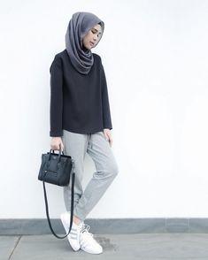 Moda Fashion Ideas Bags Ideas For 2019 Modest Fashion Hijab, Modern Hijab Fashion, Street Hijab Fashion, Casual Hijab Outfit, Hijab Fashion Inspiration, Islamic Fashion, Hijab Chic, Muslim Fashion, Modest Outfits