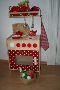 Pünktchen Küche rot weiß