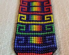 Items similar to Guacamayos/Macaw Thick Bracelet- 31 bead (Colombia) on Etsy Prayer For Health, Loom Weaving, Loom Patterns, Jewelry Making, Beaded Bracelets, Etsy, Beads, Handmade, Crafts