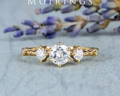 HANDMADE RINGS & BRIDAL SETS by MoissaniteRings on Etsy Bridal Ring Sets, Handmade Rings, Gold Rings, Rose Gold, Ship, Engagement Rings, Crystals, Diamond, Etsy