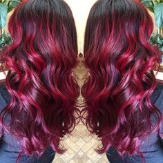 joico ruby red hair color Previous Post Next Post Ruby Red Hair Color, Red Ombre Hair, Dyed Red Hair, Bright Red Hair, Bright Hair Colors, Hair Colours, Colorful Hair, Color Red, Dark Red Hair Dye