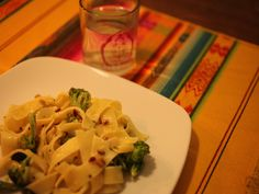 Broccoli, Pine Nut & Lemon Pappardelle Raw Broccoli, Penne Pasta, What To Make, Pine, Vegetarian Recipes, Lemon, Tasty, Chicken, Cooking